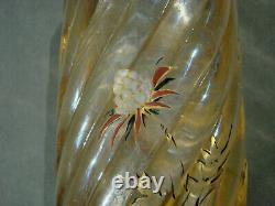 Vase Art Nouveau Decor Email Chardons