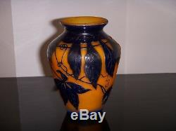 Vase Art Nouveau Delatte Nancy Grave A Acide Pate De Verre Epoque 1900