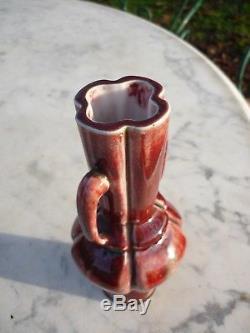 Vase Art Nouveau Gres Porcelaine Sang De Boeuf Dalpayrat Ernest Chaplet Sevres