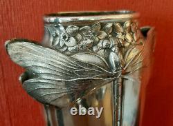 Vase Art Nouveau Libellules De Gallia // Art Nouveau Vase Gallia Dragonflies