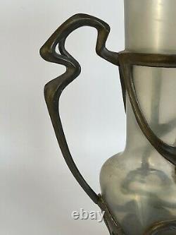 Vase Art Nouveau Loetz Pallme Konig Monture Mouvement Nuit 1900 C2709