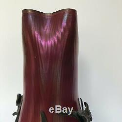 Vase Art Nouveau Pallm Konig Couronne 1330 Blason Lion 1900 C2529