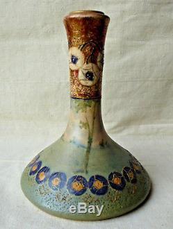 Vase Art Nouveau Paul Dachsel céramique 1900 Turn Teplitz Austria