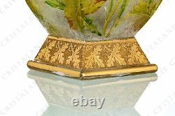 Vase Art Nouveau au Liondent par Baccarat 29 cm. Vase Art Nouveau with Leontodon