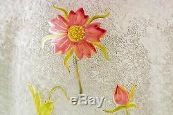 Vase Art Nouveau aux anémones par Saint-Louis. Art Nouveau vase with Anemones