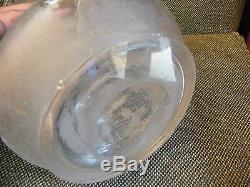 Vase Art Nouveau en Cristal Dégagé à l'Acide St Louis Baccarat
