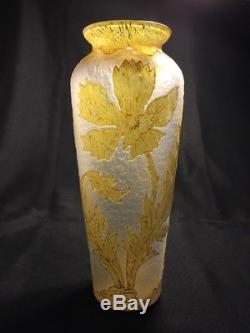Vase Art Nouveau en cristal Legras Montjoye Saint-Denis / Antique crystal vase