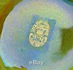 Vase Art-Nouveau en faience vernissée au lustre signé PECS Zsolnay