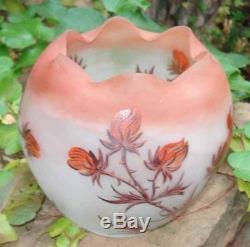 Vase Art Nouveau en verre émaillé à décor de Chardons par C. Vessière Nancy