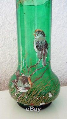 Vase Art nouveau décor émaillé Nancy Montjoye Saint Denis Legras