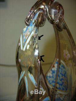 Vase Auguste JEAN émaillé art nouveau