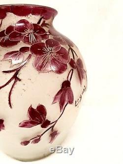Vase Boule Art Nouveau Signé Legras