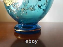 Vase Christal Saint Louis Couleur Roemer Bleu Ciel Art Nouveau