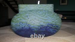 Vase DAUM croix de loraine pate de verre art nouveau