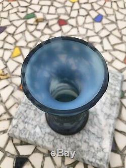 Vase DE VEZ Camille Tutré de Varreux Art Nouveau pâte de verre 1900 1910