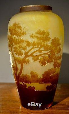 Vase D'emile Gallé D'époque Art Nouveau Original