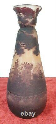 Vase De Verres. Richard Burgsthal. Art Nouveau. Vers 1920