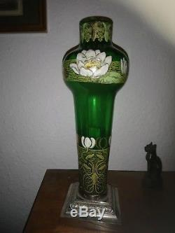 Vase. Émaillé Ancien. Art. Déco. Art. Nouveau