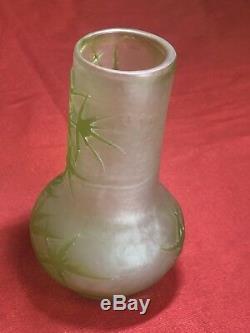 Vase Emile Galle(1846-1904) Joli Vase Décor Chardon Art Nouveau