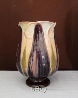Vase Emile Gallé Art Nouveau en faïence