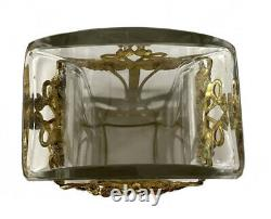 Vase En Cristal Baccarat Monture En Bronze Doré Art Nouveau Jugendstil