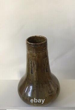 Vase En Gres Art Nouveau Alexandre Bigot