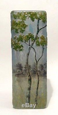 Vase En Pate De Verre Signe Daum Nancy Art Nouveau 1900 No Galle