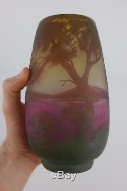 Vase En Pte De Verre Époque Art Nouveau École De Nancy French Glass