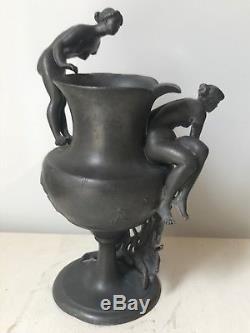 Vase En étain Art Nouveau Course De Vélo 1900