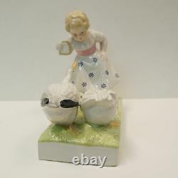 Vase Figurine Enfant Oie Style Art Deco Style Art Nouveau Porcelaine