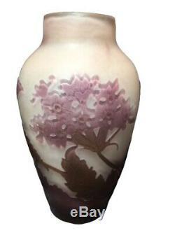 Vase Gallé Dépoque Art Nouveau Décor Champêtres XXème daum le verre français