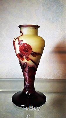 Vase Galle. Emile Galle(1846-1904) Superbe Vase Galle Balustre. Art Nouveau