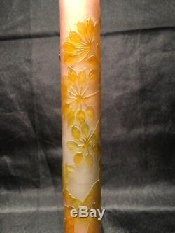 Vase Gallé Soliflore Dépoque Art Nouveau daum le verre français legras