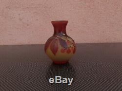 Vase Gallé émile art nouveau authentique vers 1900