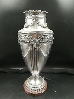 Vase Gallia Art Nouveau. Socle En Marbre
