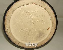 Vase Gres Mougin Ceramiste Nancy G. Ventrillon G98 Ecole De Nancy Art Nouveau