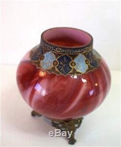 Vase Loetz Verre Marbré Glass Marmoriertes Carneol Art Nouveau