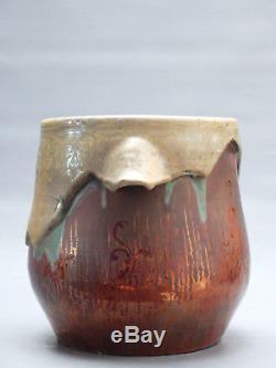 Vase Luneville Irise Keller Et Guerin Art Nouveau 1900 Cf Bussiere Majorelle