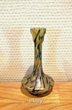 Vase Miniature Pate De Verre Irrise Loetz, Kralik Art Nouveau