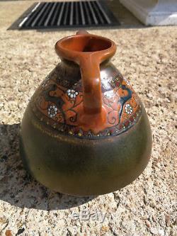 Vase Montieres. Art Nouveau / Ceramic Art New. Jean Barol. Ceramique