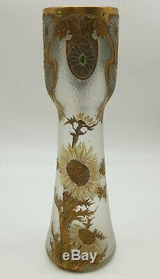 Vase Montjoye Saint Denis Modele Aux Chardons Art Nouveau