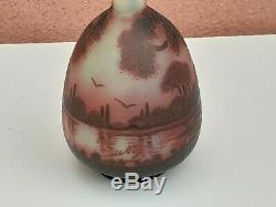 Vase Pâte De Verre Art Nouveau SIGNER DEVEZ