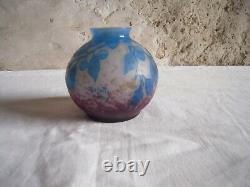 Vase Pate De Verre Signe A. Delatte Nancy- Art Nouveau