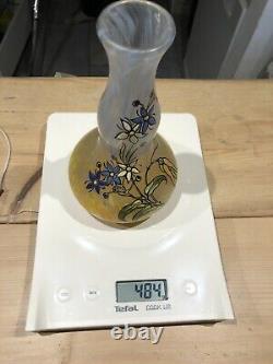 Vase Signe Legras Pate De Verre Emaille Art Nouveau Glass
