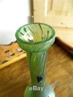 Vase Soliflore Irisé Art Nouveau Bohème Kralik Loetz Pallme-könig (333)