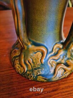 Vase Zsolnay Iridescent Décor Végétal 4 Arbres vers 1900 art nouveau