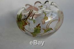 Vase a decor émaillé Art nouveau (35121)