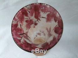 Vase ancien Legras collection modèle rubis art nouveau 35 cm soliflore