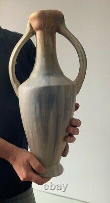 Vase ancien céramique amphore 1900 art nouveau Méténier jugendstil ceramic