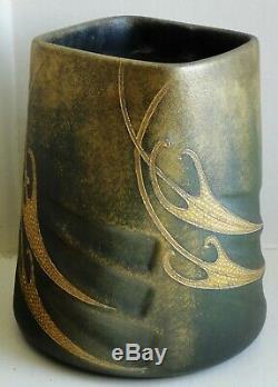 Vase ancien en céramique Art Nouveau de Clément Massier